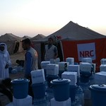 NRC is present in Amiriyat Al Fallujah delivering emergency aid such as safe drinking water and food parcels to newly displaced families from Fallujah. Photo: NRC