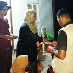 Newly arrived Iraqis from Fallujah on the night of 26-27 May 2016, being received by NRC staff. Photo: NRC