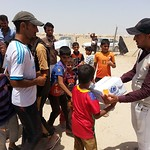 NRC is present in Amiriyat Al Fallujah delivering emergency aid such as safe drinking water and food parcels and baby kits to newly displaced families from Fallujah. Photo: NRC