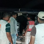 Newly arrived Iraqis from Al Sajer (Karma) on the night of 27-28 May 2016, being received by NRC staff. Photo: NRC