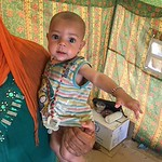 Baby Yousra arrived in Al Fallujah camp in Ameriyat Al Fallujah with her parents and 6 brothers and sisters today at 4:00am from Al Husay, near the city of Fallujah. Her mother said: ?My b ...