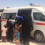 Medical supplies had been scarce for months in Fallujah and people are very happy to be able to access basic medical care. Photo: NRC