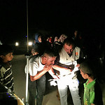 Newly arrived Iraqis from the outskirts of Fallujah on early Wednesday morning, 25 May 2016, being received by NRC staff. Photo: NRC