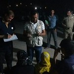 Newly arrived Iraqis from Husay on the night of 27-28 May 2016, being received by NRC staff. Photo: NRC