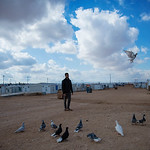 Eyad, a 23-year-old Syrian refugee living in the Zaatari Refugee Camp. Eyad is a pigeons breeder, who enjoys keeping, raising and trading pigeons ever since he was in Syria.
