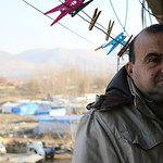 Abdul Wahab Taha, 48, on the balcony of his house in Bekaa, Lebanon. Abdul Wahab is a Syrian refugee in Lebanon living in Bekaa with his wife and 5 children. Abdul Wahab studied nursing in a ...