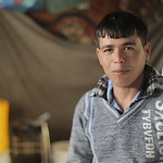 Thaer Al Sheesh, 30, father of three girls and a four-months-old boy, from Beit Lahiya, had his house destroyed in the last war almost three years ago. He is still living in a tent with his  ...