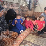 Thaer (right) with his family  Thaer Al Sheesh, 30, father of three girls and a four-months-old boy, from Beit Lahiya, had his house destroyed in the last war almost three years ago. He is s ...