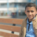 Rezq Ahmed, 10, from Al Mugragha, had his family house destroyed in the last war on Gaza in 2014. He is the oldest of three sisters and two brothers  We live in a tragic situation under the  ...